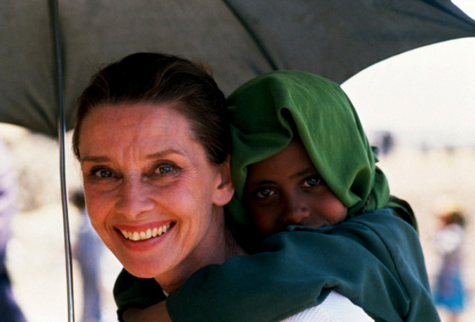March 16-17, 1988, Ethiopia --- Soon after becoming a UNICEF ambassador, Audrey Hepburn went on a mission to Ethiopia, where years of drought and civil strife had caused terrible famine. --- Image by ゥ Derek Hudson/Sygma/Corbis