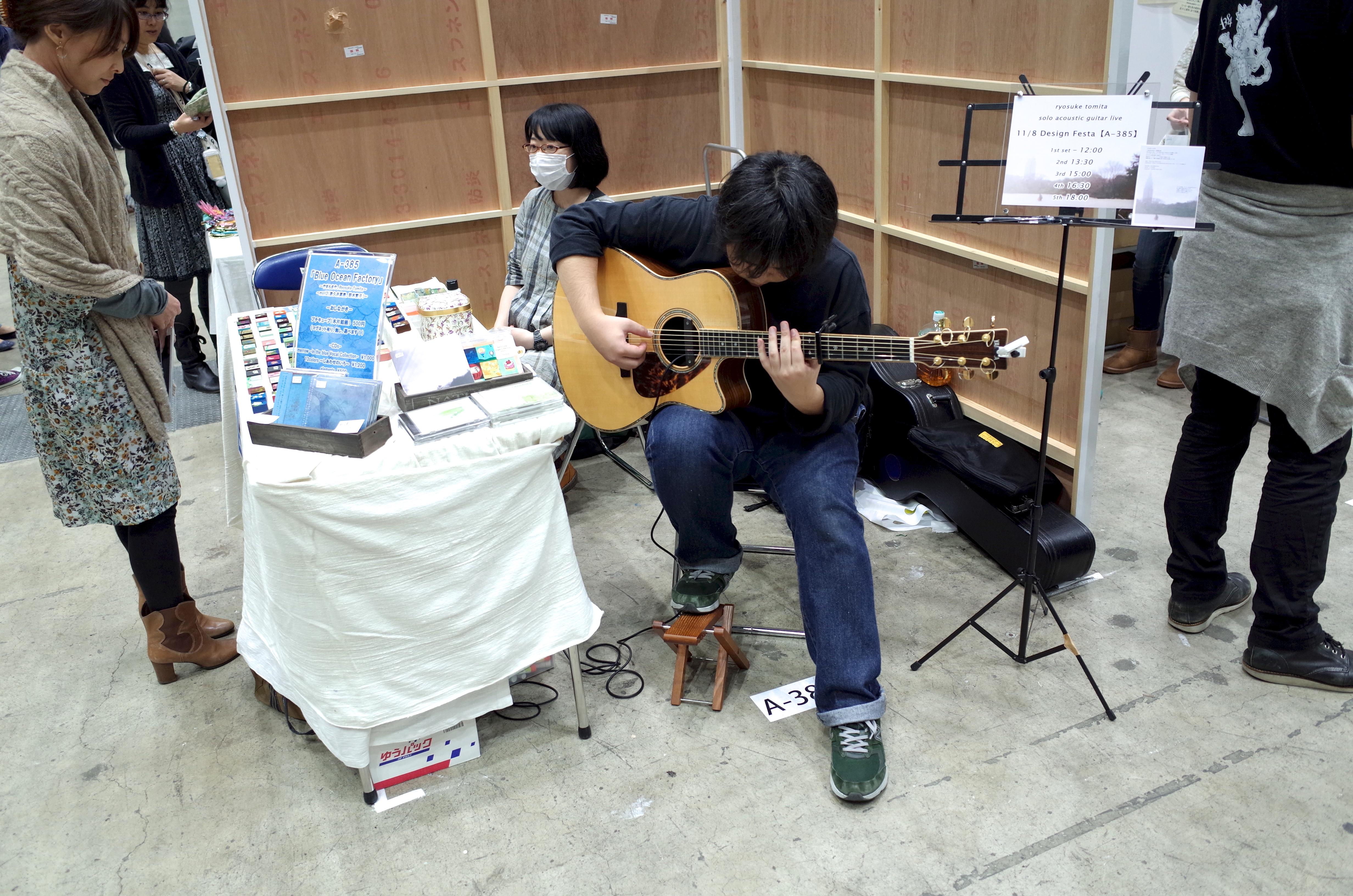 弾き語り ギター CD デザインフェスタ デザフェス 雰囲気 店 東京ビックサイト